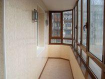 Отделка балкона в Новосибирске. Отделка лоджии